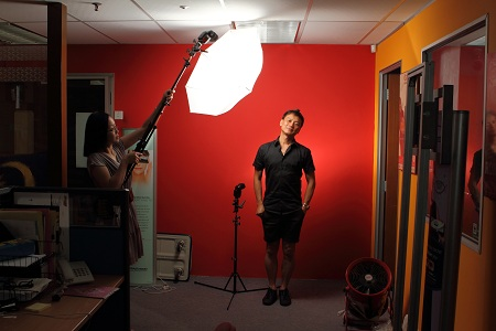 Lighting setup for Tony Yap