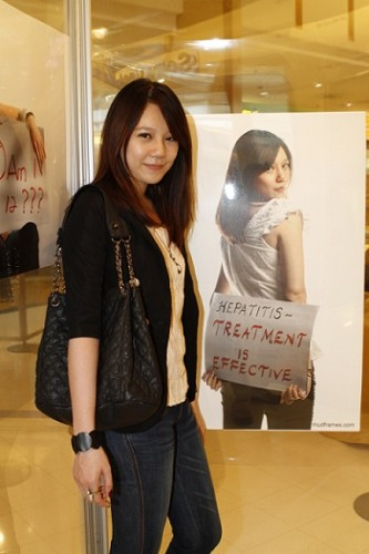 "Ashley Khoo a.k.a ""Summer"" at World Hepatitis Day 2011 Malaysia Campaign"