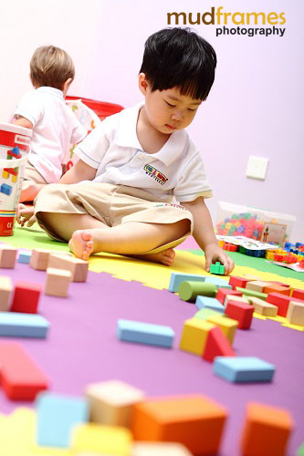 Students playing at San Lorenzo Montessori, Publika, Solaris Dutamas