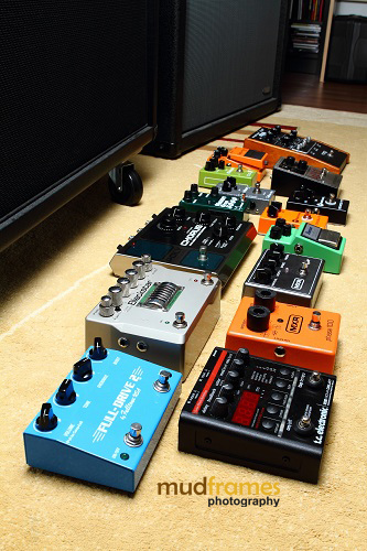 Guitar Pedals in The Ark Studios Audio Facility