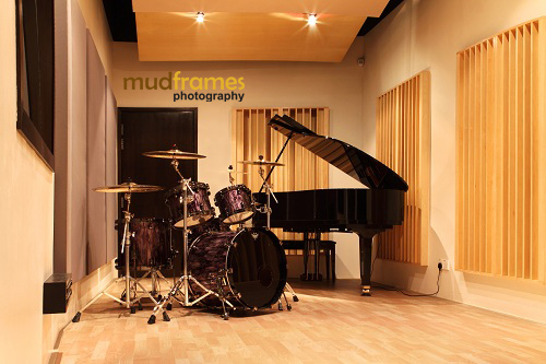 The Ark Studios Audio Facility with drums and grand piano