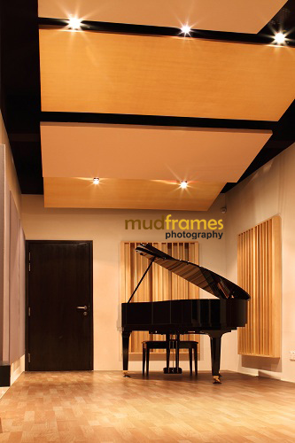 The Ark Studios Audio Facility with grand piano