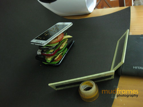 Setup of hamburger mobile phones
