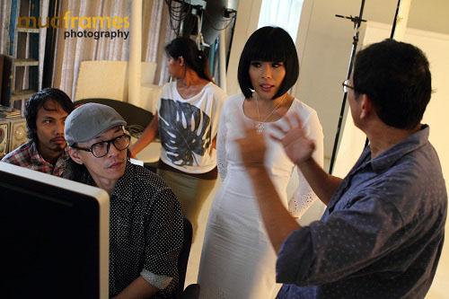Adam Seow directing Xandria Ooi