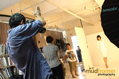 Adam Seow photographing Xandria Ooi