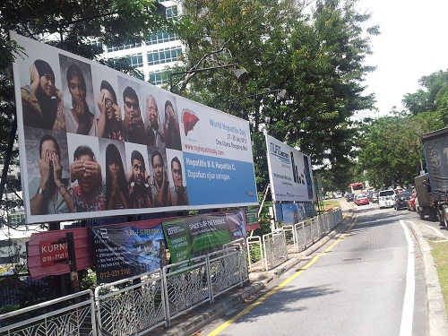 BIG Tree's World Hepatitis Day 2012 Billboard at Jalan Semangat, PJ