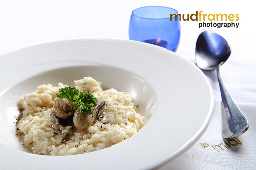 Champagne lemon risotto at midi 57 restaurant & bar