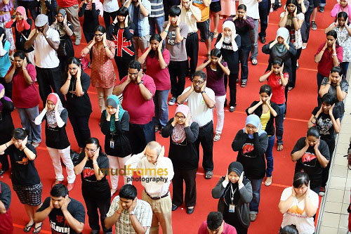 Guinness World Record Event during World Hepatitis Day 2012 main event at One Utama Shopping Mall
