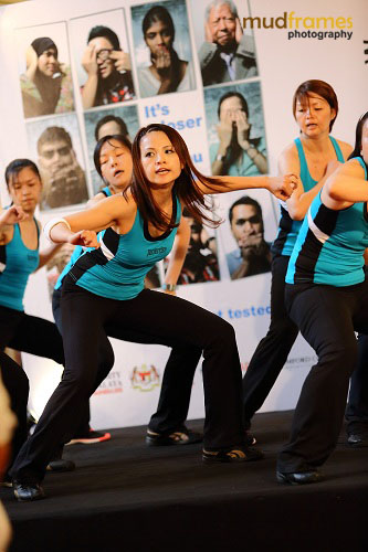Jazzercise performing at the World Hepatitis Day 2012 main event at One Utama Shopping Mall