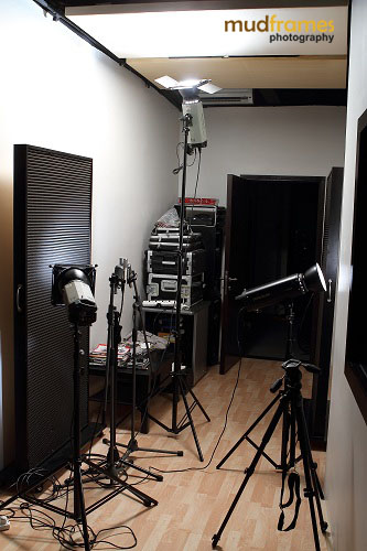 Lighting setup at The Ark Studios Audio Facility