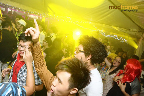 Partying at Methodist College, KL's Midsummer Masquerade 2012 Event