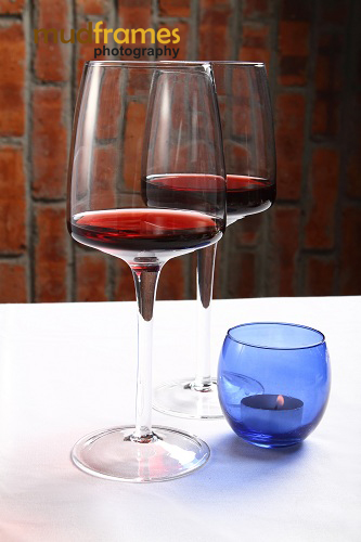 Wine glasses at Midi 57 Restaurant &amp; Bar