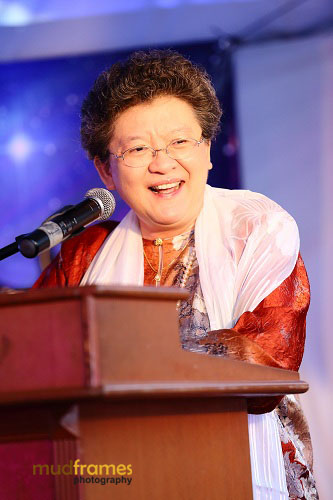 Principal of Methodist College, KL, Miss Moey Yoke Lai at Midsummer Masquerade 2012 Event