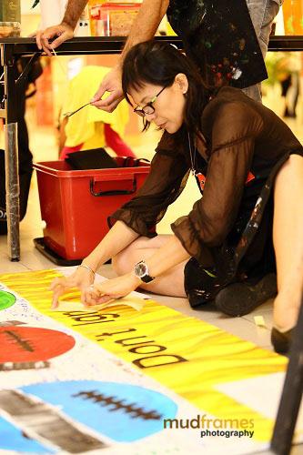 The Studio @ KL art-jamming during World Hepatitis Day 2012 main event at One Utama Shopping Mall