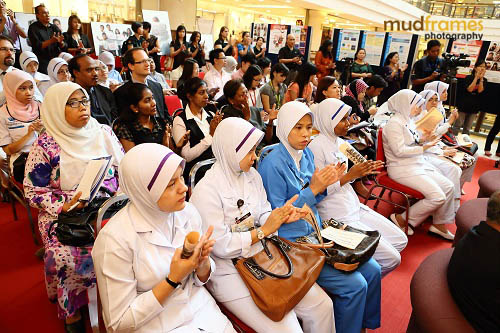 The audience during the launch of World Hepatitis Day 2012 event at One Utama Shopping Mall