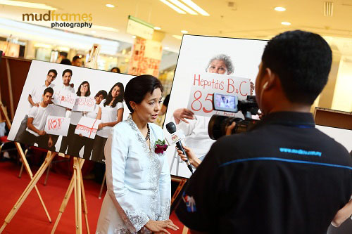 Prof. Dr. Rosmawati Mohamed being interviewed at World Hepatitis Day 2012