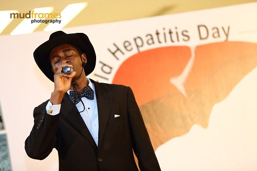 A musical performance at the World Hepatitis Day 2012 main event at One Utama Shopping Mall