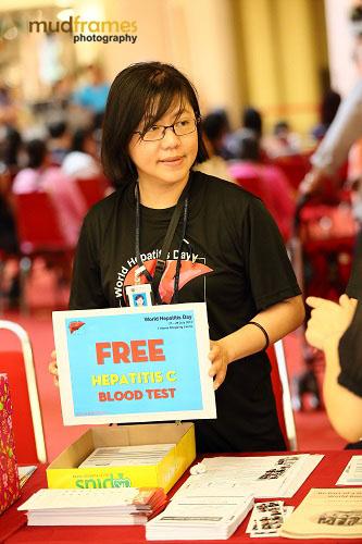 Free Hepatitis Blood Test during World Hepatitis Day 2012 Main Event at One Utama Shopping Mall