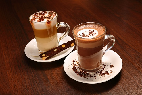 Hot chocolate and coffee drink at Silver Spoon Trattoria, Italian Restaurant at Bandar Menjalara
