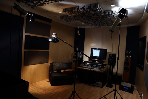 Lighting setup at the Ark Studios audio facility at TTDI
