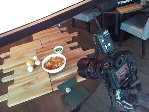 Lighting setup for food and drinks photography at Silver Spoon Trattoria, Italian Restaurant at Bandar Menjalara