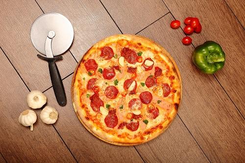 Pepperoni pizza at Silver Spoon Trattoria, Italian Restaurant at Bandar Menjalara