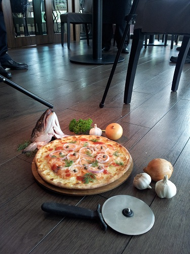 Setup for food and drinks photography at Silver Spoon Trattoria, Italian Restaurant at Bandar Menjalara