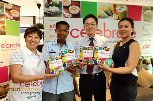 "Celebrity Chef Amy Beh and nutritionist Madhavi Rai during launch of ""Celebrate - The Dessert Cookbook"" at buffalo kitchens restaurant"
