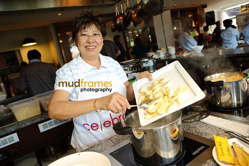 "Celebrity Chef Amy Beh during launch of ""Celebrate - The Dessert Cookbook"" at buffalo kitchens restaurant"