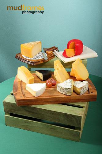 Christmas photo shoot for Cold Storage Cut Cheese