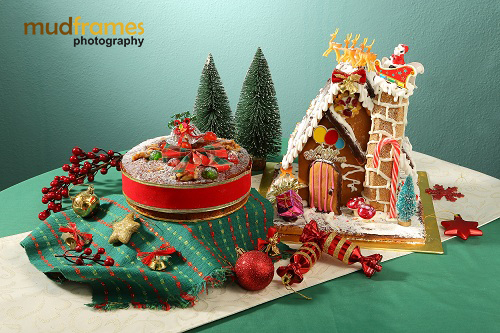 Christmas photo shoot for Cold Storage Fruit Cake & Ginger Bread Man House