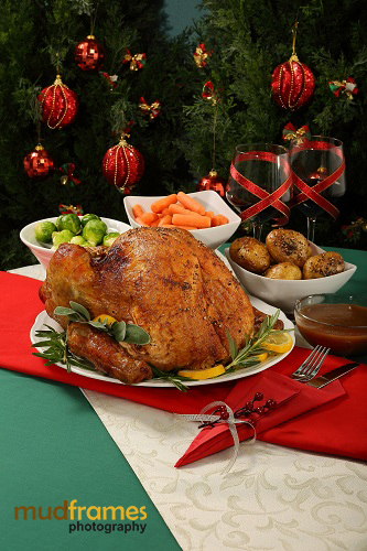 Christmas photo shoot for Cold Storage Turkey