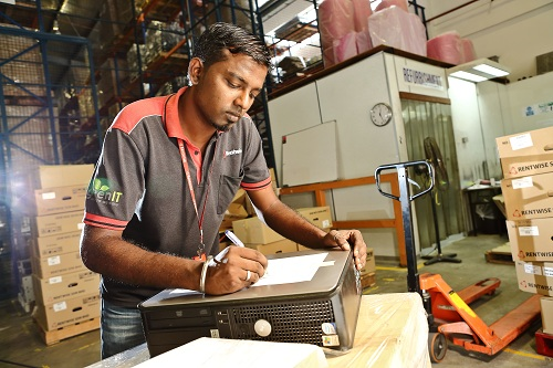 Rentwise Staff at work in Warehouse