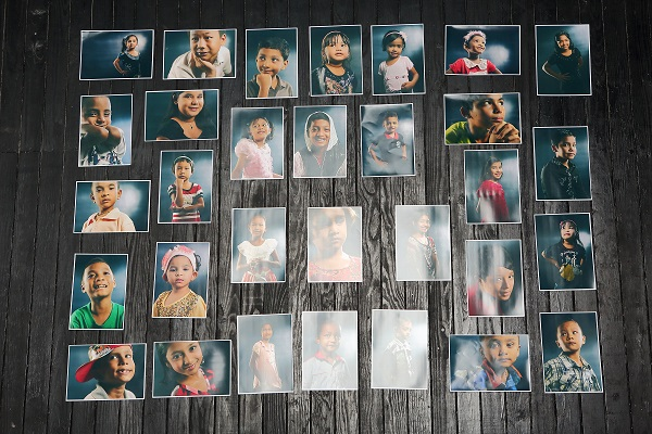 A4 prints of Myanmar Refugee Children at Mudframes Studio