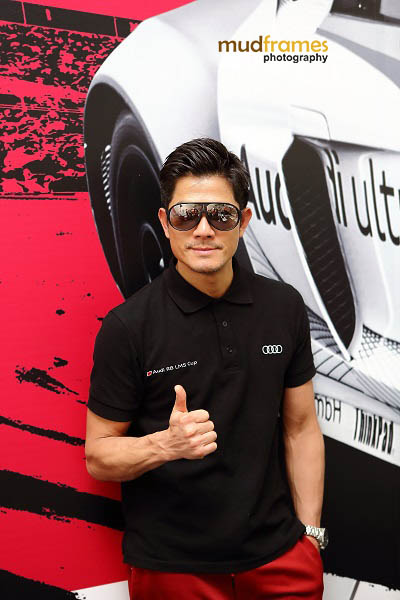 A casual Aaron Kwok during the Audi R8 LMS Cup 2013 at Sepang