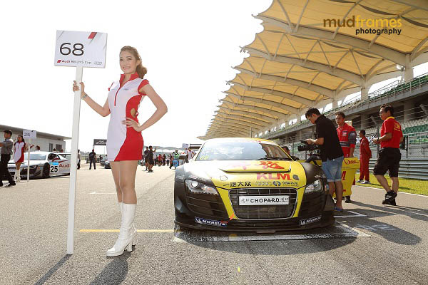 A race queen during the Audi R8 LMS Cup 2013 at Sepang