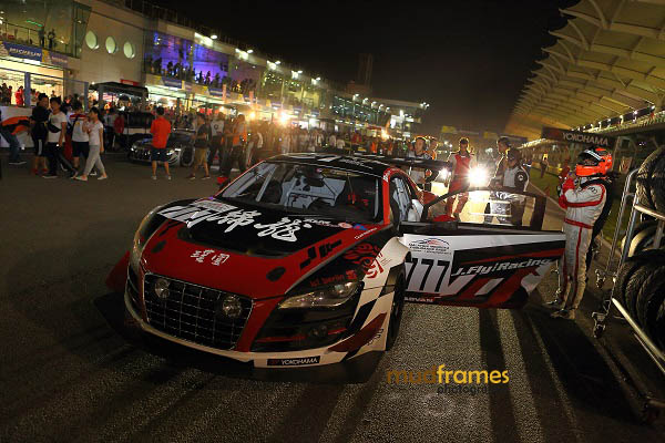 An Audi R8 LMS Ultra ready at starting grid during MMER 2013 at Sepang