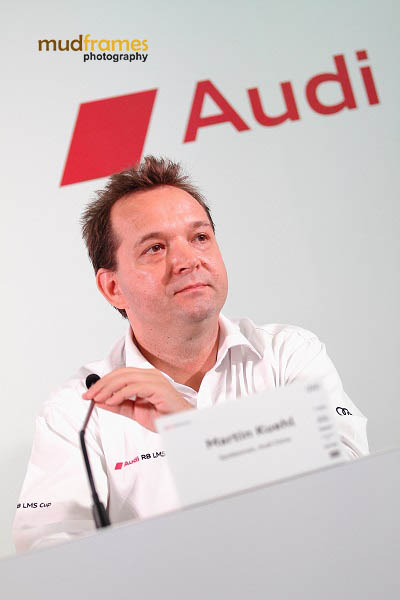 Audi China spokesperson Martin Kuehl during Audi R8 LMS Cup 2013 press conference at Sepang