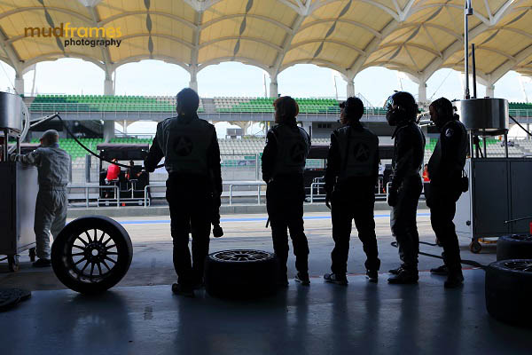 Audi race crews at pit during MMER 2013 at Sepang