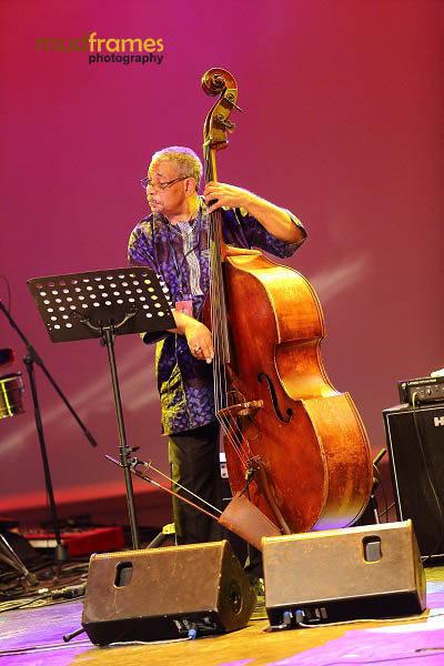 Bassist Christy Smith of The Christy Smith Quartet performing during the KL International Jazz Festival 2013