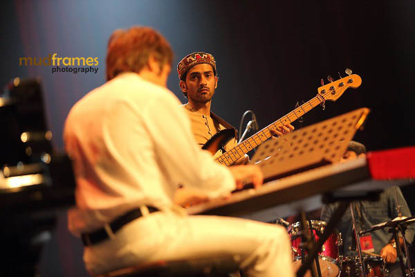 Bassist Maziyar Khavajian of the TrioMyn project performing during KL International Jazz Festival 2013
