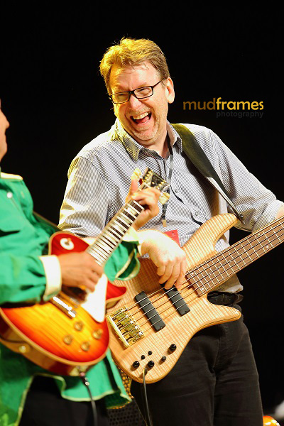 Lee Mack Ritenour and his bassist performing during the KL International Jazz Festival 2013
