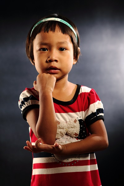 Portrait of Myanmar Refugee Children