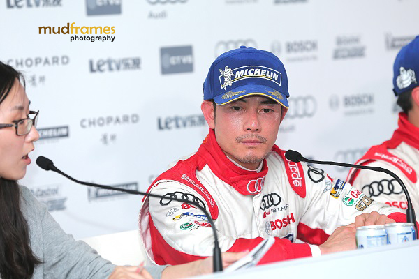 Race driver Aaron Kwok during the Audi R8 LMS Cup 2013 press conference at Sepang