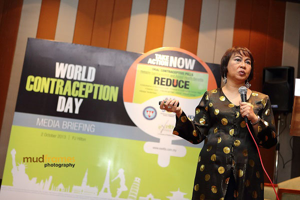 Prof. Dr. Jamiyah Hassan speaking at Exeltis Pharma Media Briefing Event in conjunction with World Contraception Day 2013