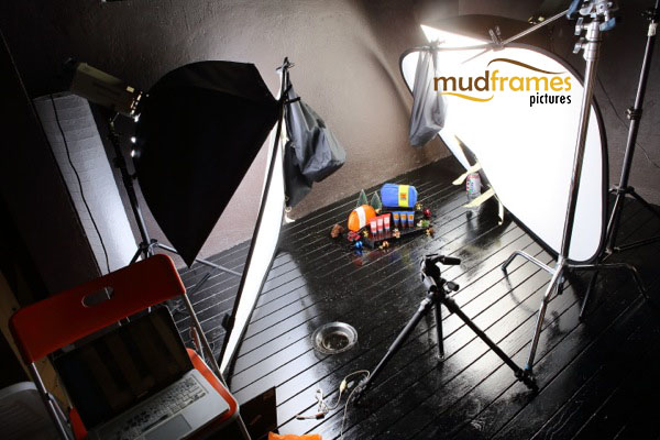 BTS: Guardian bath travel set body care range product photography for 2013 Christmas catalogue