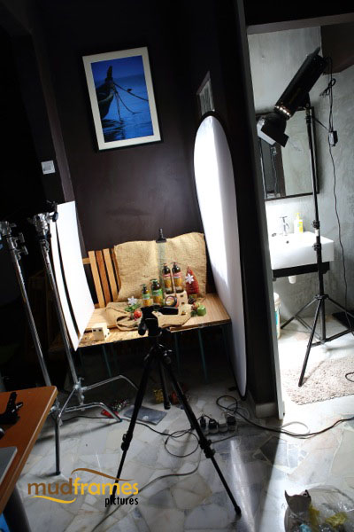 BTS: Guardian Organic Brown Rice & Aloe Vera body care range product photography for 2013 Christmas catalogue