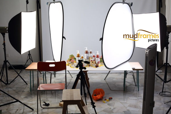 BTS: Guardian Spa Bath Scrub body care range product photography for 2013 Christmas catalogue