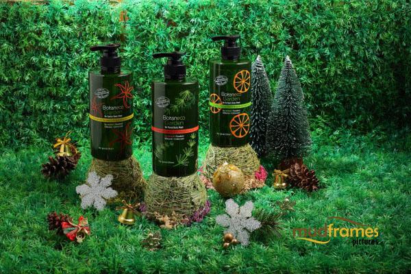 Guardian Botaneco body wash range product photography for 2013 Christmas catalogue