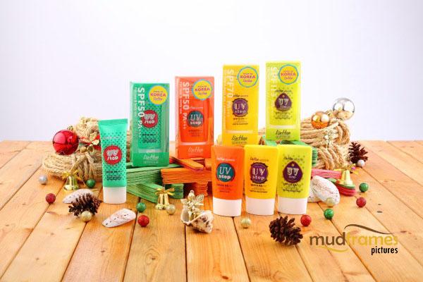 Guardian Lip Hop Sun Block product photography for 2013 Christmas catalogue